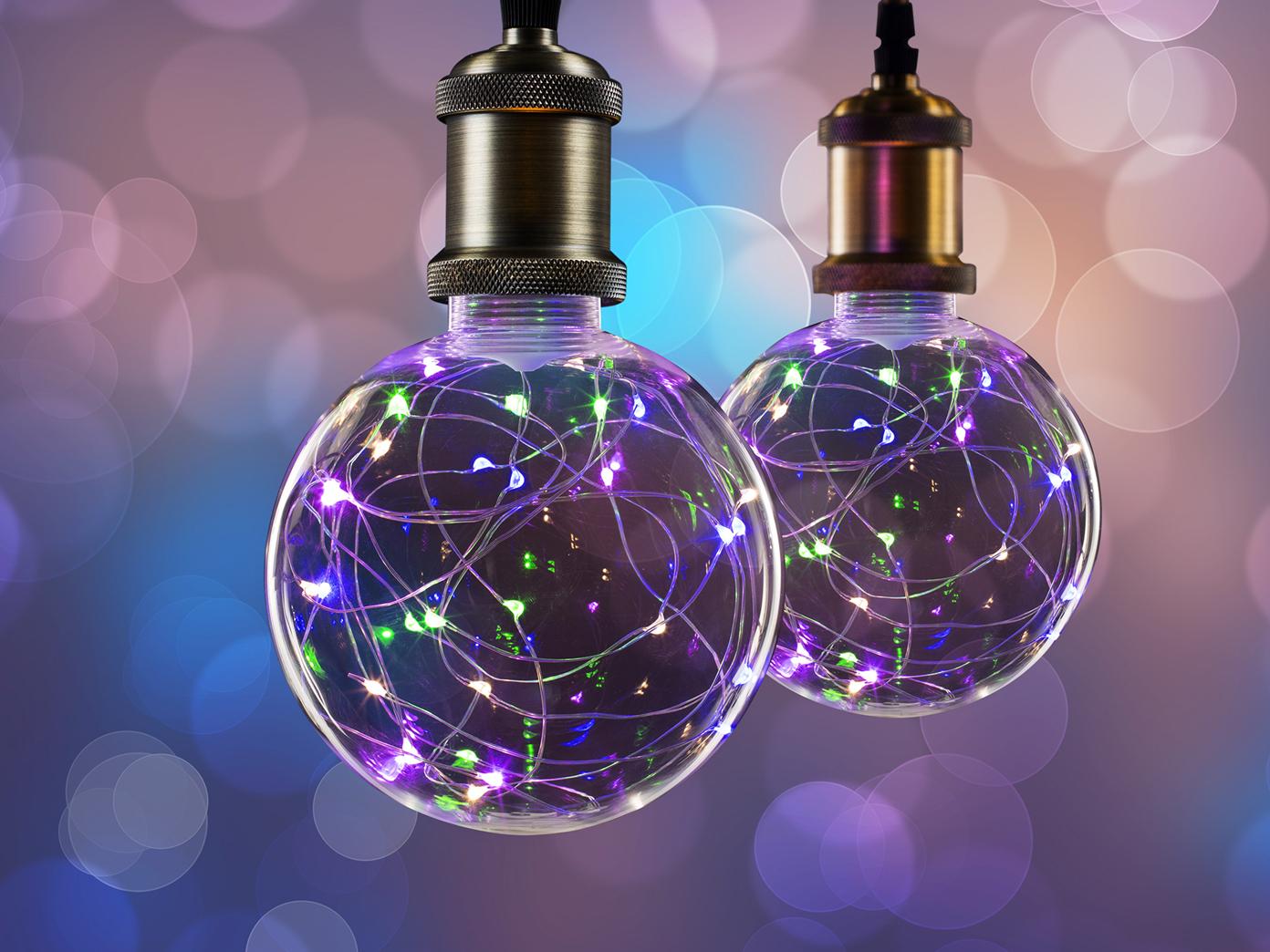 LED Lampe Kugel 2 Watt E27 Sockel 30