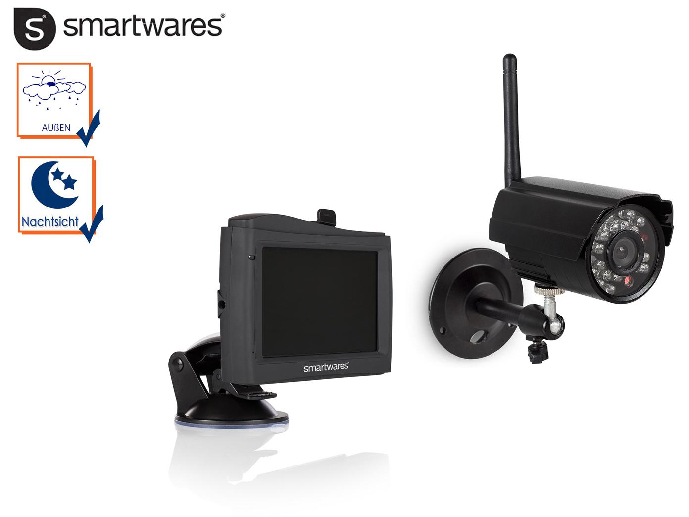 au enkamera nachtsicht kamera mit monitor video berwachung einbruchsicherung ebay. Black Bedroom Furniture Sets. Home Design Ideas