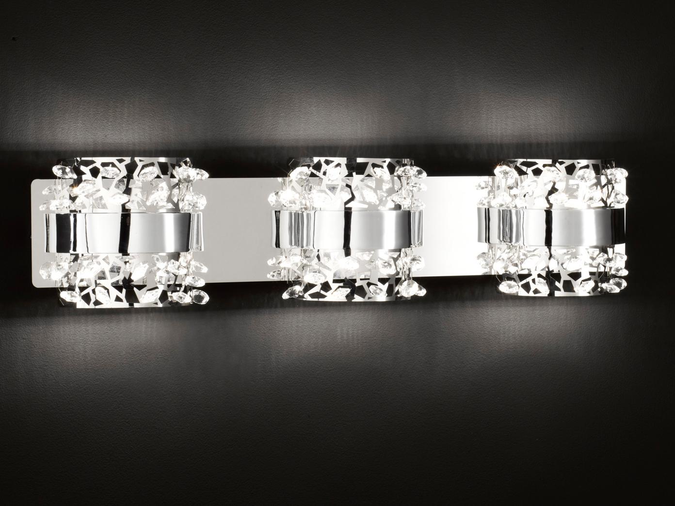 Illuminazione parete applique led cromo cromo cromo vetro