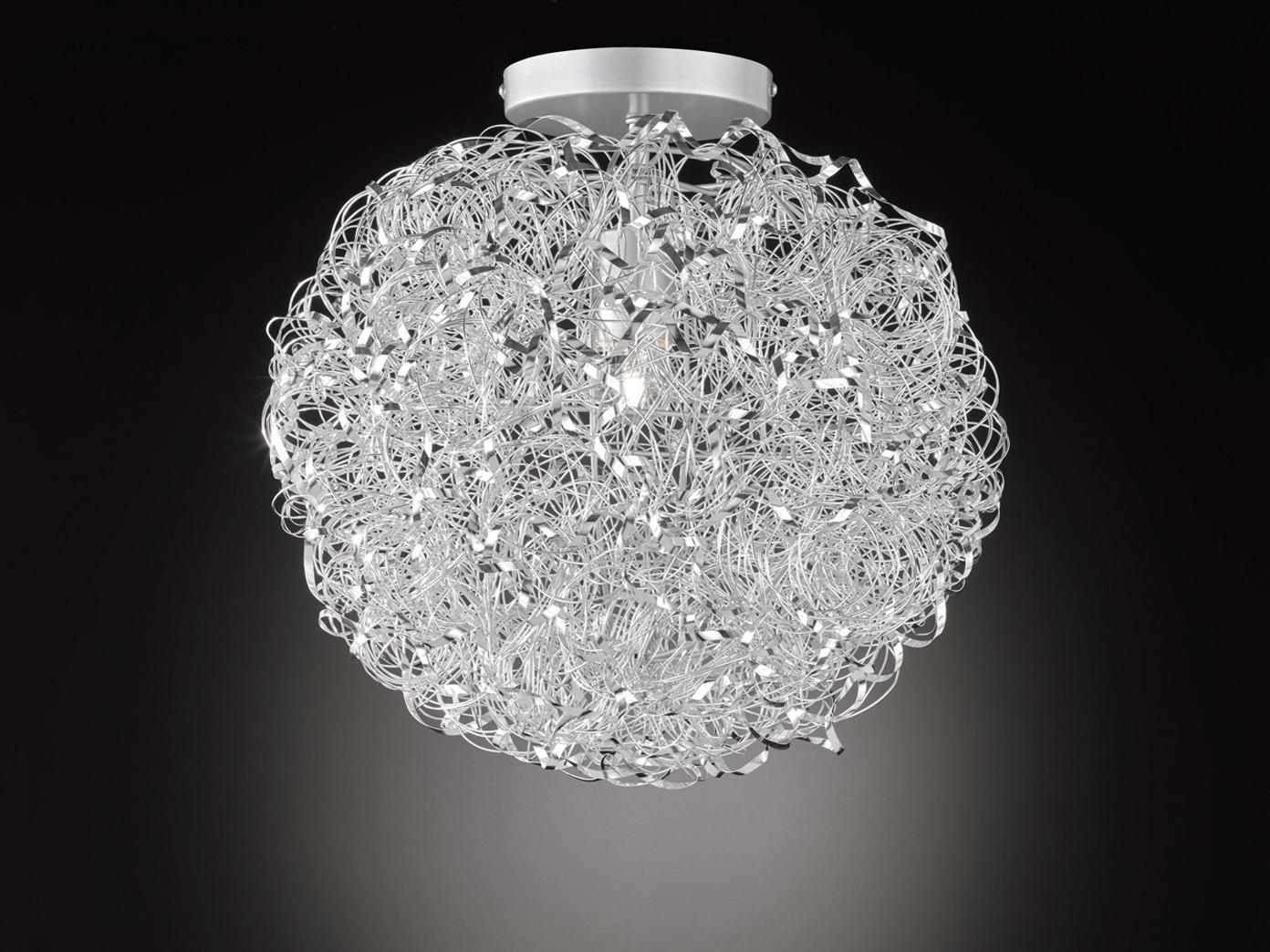 Silberne deckenlampe 40cm e27 k chenlampe b roleuchte for Kuchenlampe deckenleuchte