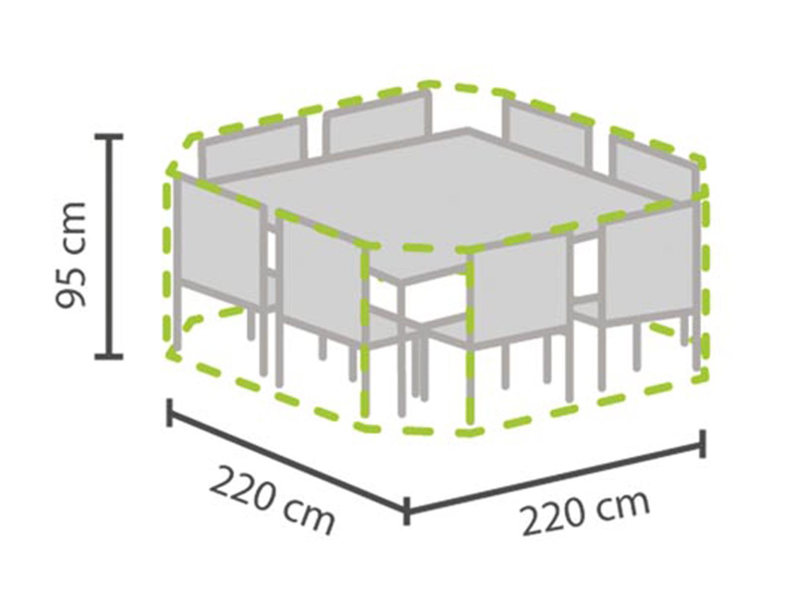 Das Bild Wird Geladen Gartenmoebel Abdeckhaube  Achteckig 220x220cm Wasserfest Schutzhuelle Plane Outdoor