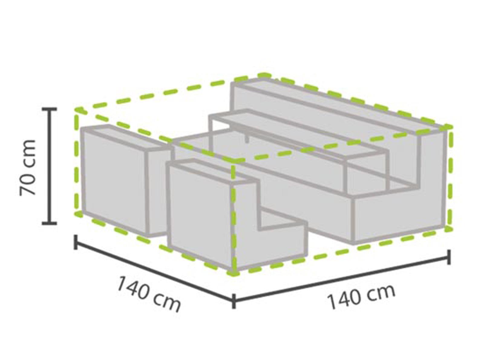 Das Bild Wird Geladen Gartenmoebel Loungemoebel Abdeckhaube  XS 140x140cm Wasserfest Schutzhuelle Plane