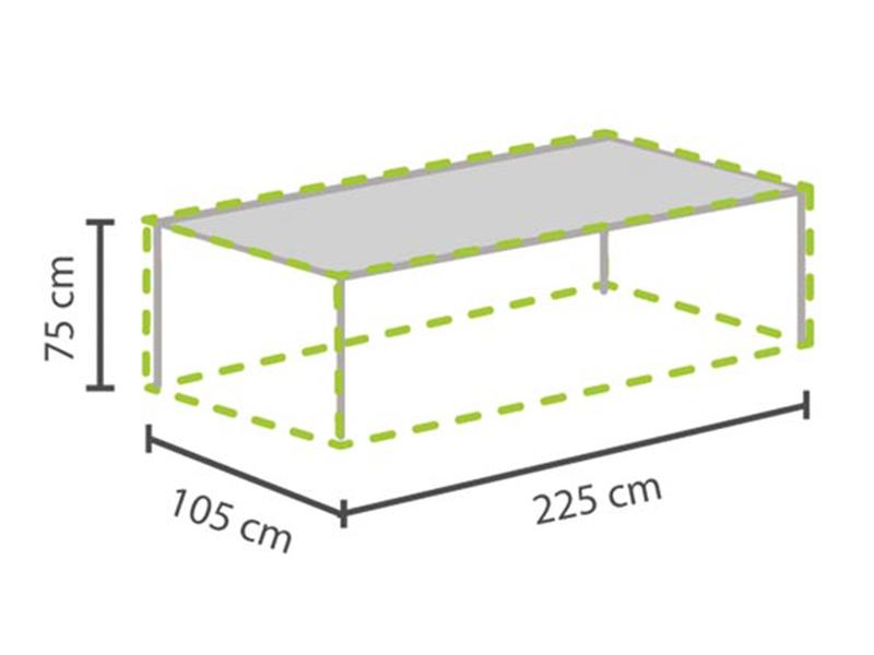 Gartentisch Schutzhülle Abdeckplane Tisch bis 220cm, Gartenmöbel ...