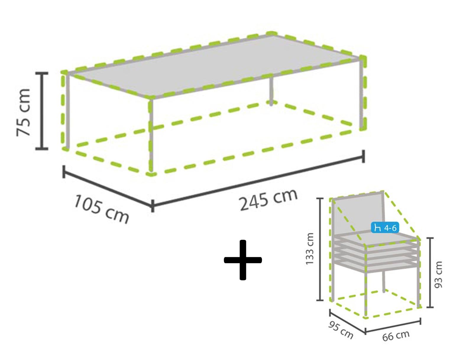 Schutzhullen Set Fur Gartentisch Max 240cm 4 6 Stuhle