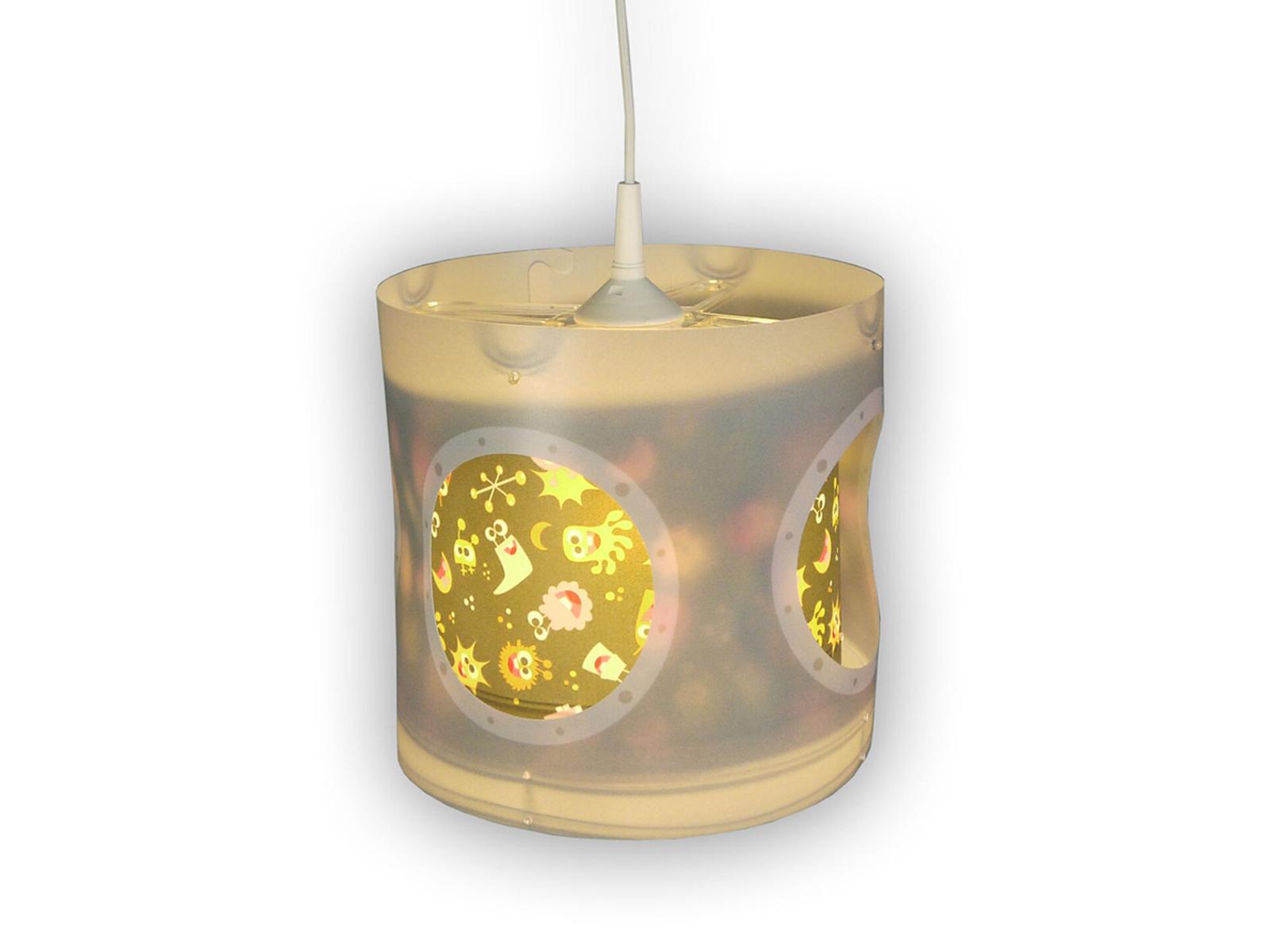 KINDER LED PENDELLEUCHTE drehend ALIENS dimmbar LED Kinderzimmer ...