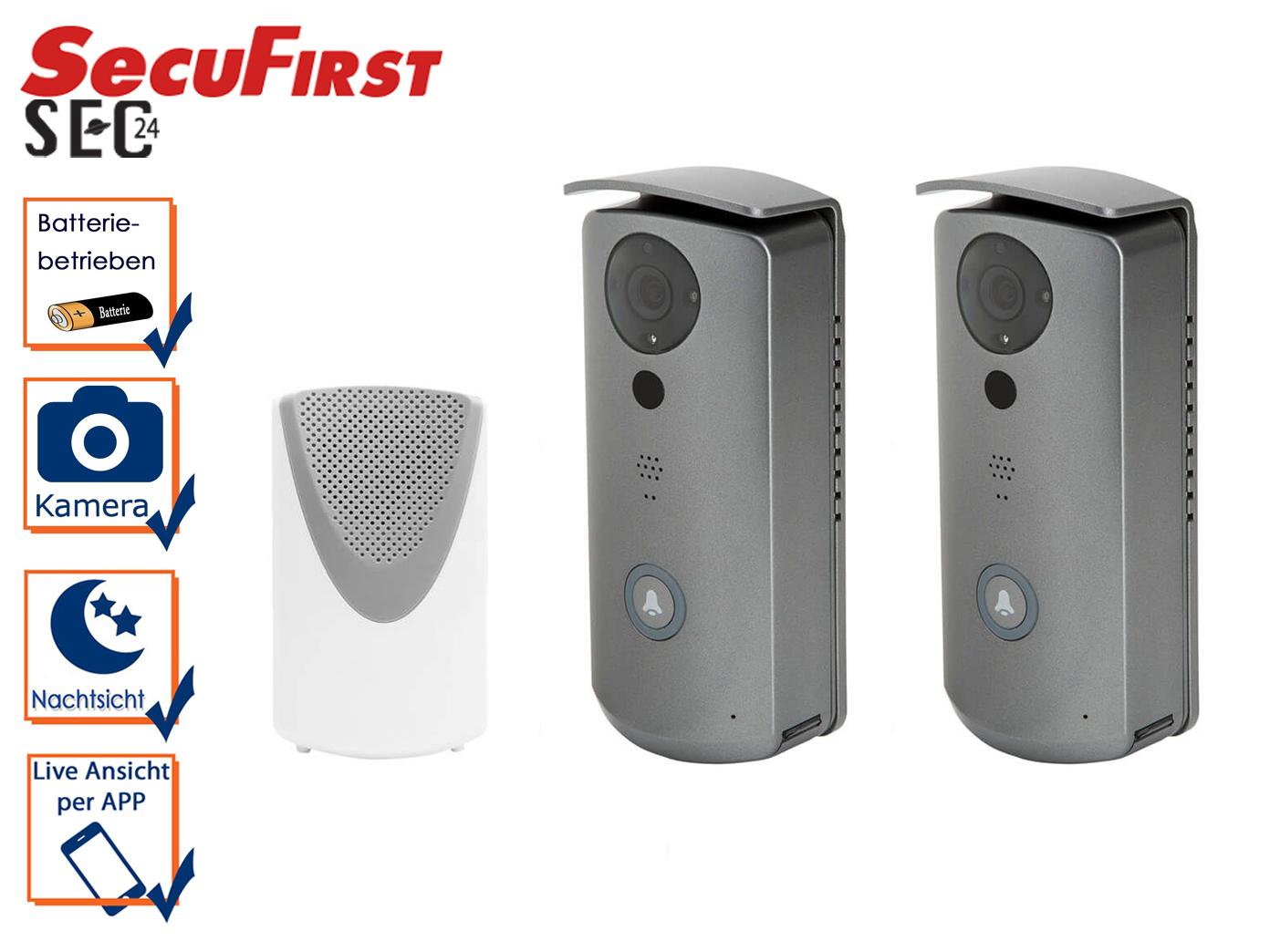 Türanlage: 2 Wifi Klingeln mit Kamera, Videosprechanlage Gegensprechanlage Haus