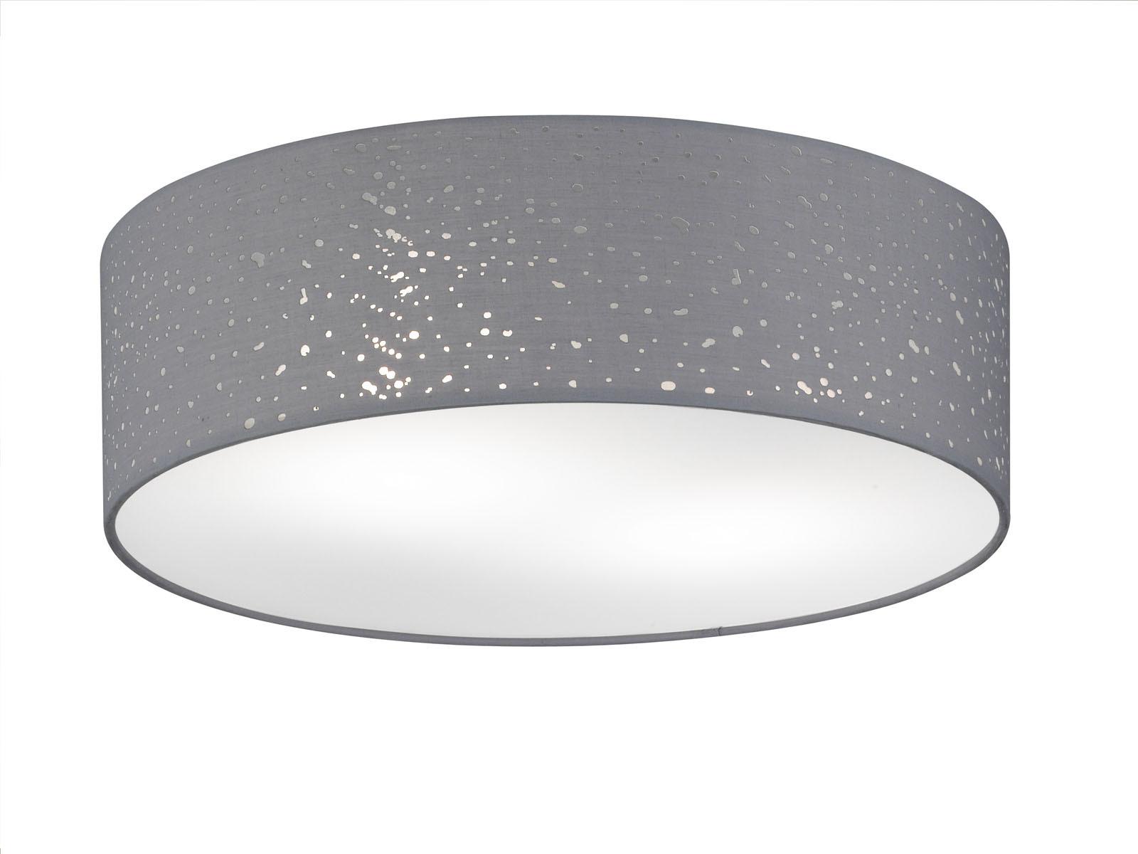 Das Bild Wird Geladen Design LED Deckenleuchte  40cm Textilschirm Grau Deckenlampe Wohnzimmer