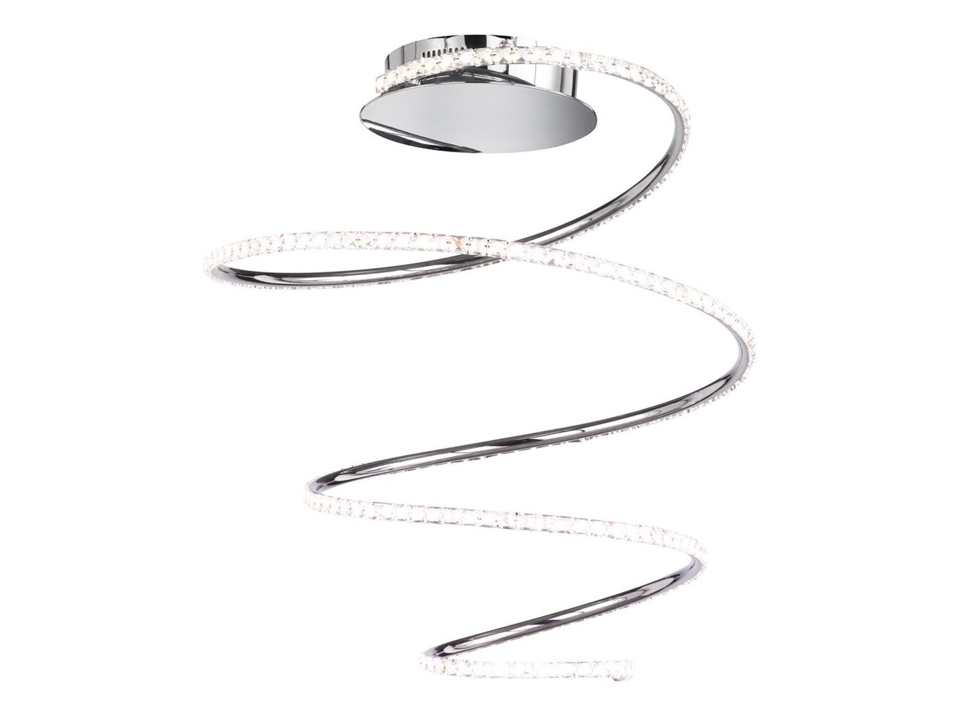 Das Bild Wird Geladen Aussergewoehnliche Lampen LED Dekoleuchte Deckenlampe  Dimmbar Chrom 45cm