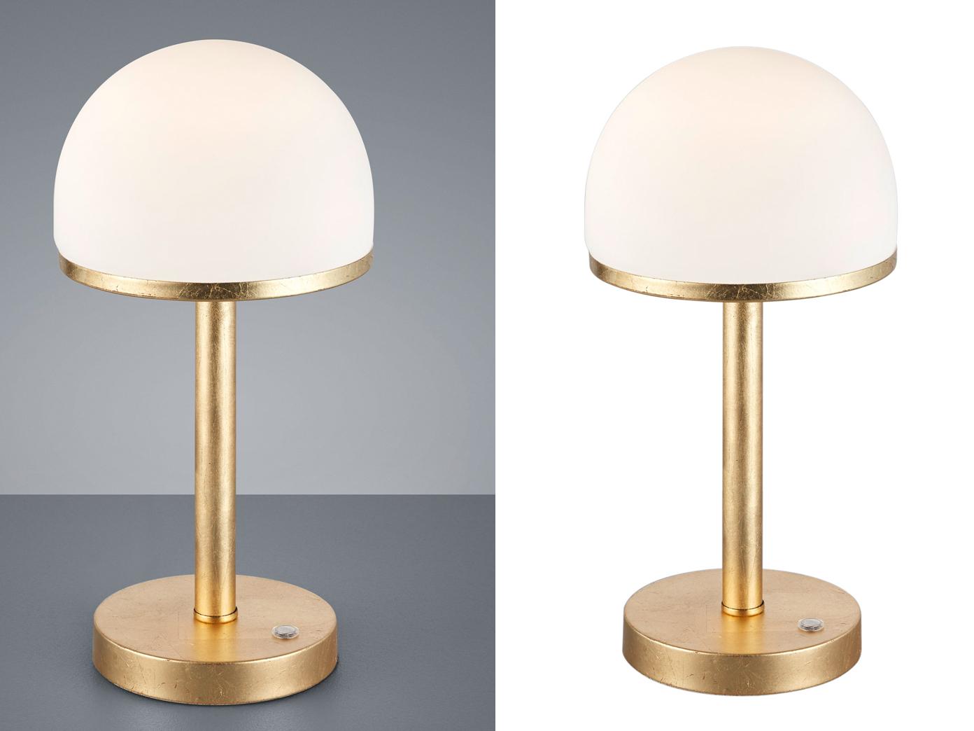2 Stck Dimmbare Led Wohnzimmerlampen Touch Nachttischleuchte Gold