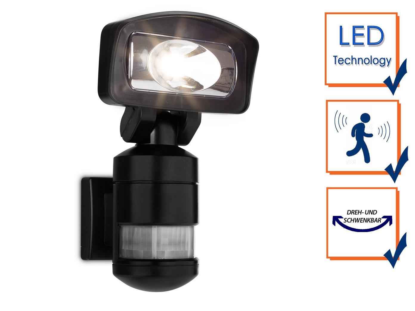 Smartwares Sicherheitsleuchte LED Wandfluter mit Bewegungsmelder & -verfolgung