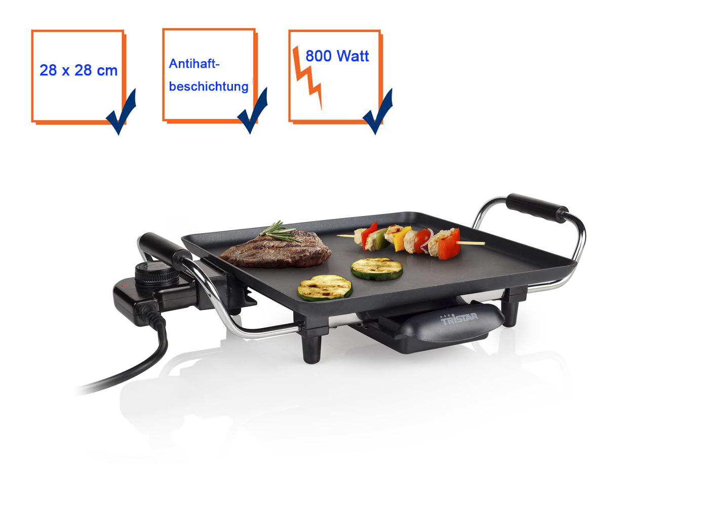 XL Grill elektrischer Tischgrill Grillplatte Elektrogrill Teppan Yakigrill