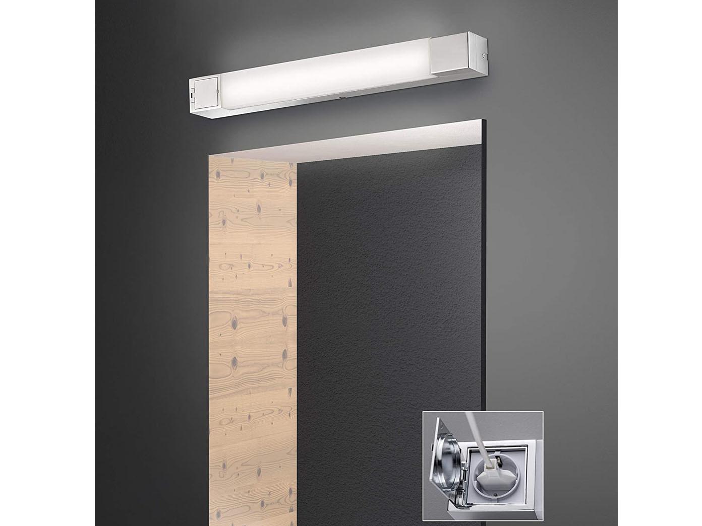 LED Badezimmerleuchte Mit Steckdose Spiegellampe 60cm