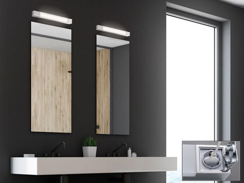 2x LED Badezimmerleuchten mit Steckdose Spiegellampe 60cm ...