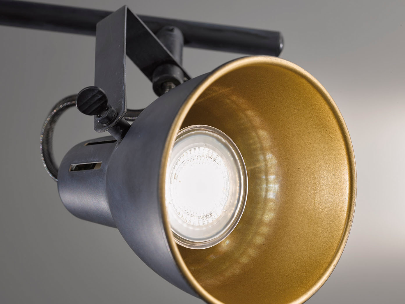 Retro Flur Lampen Decken Leuchten Wohn Schlaf Zimmer Beleuchtung Rost Goldfarben