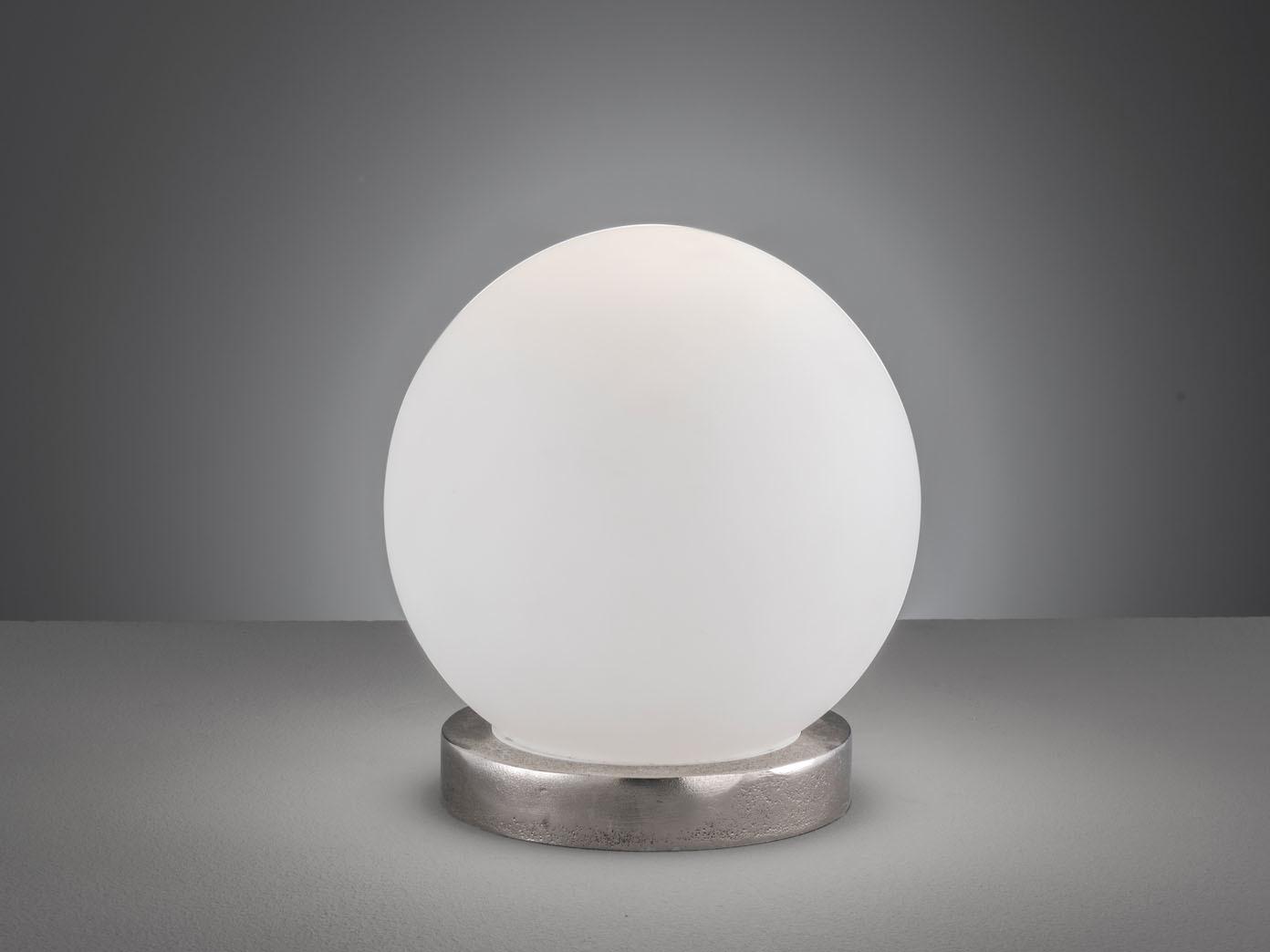 Lampada tavolo sfera vetro bianco 25cm con led illuminazione per