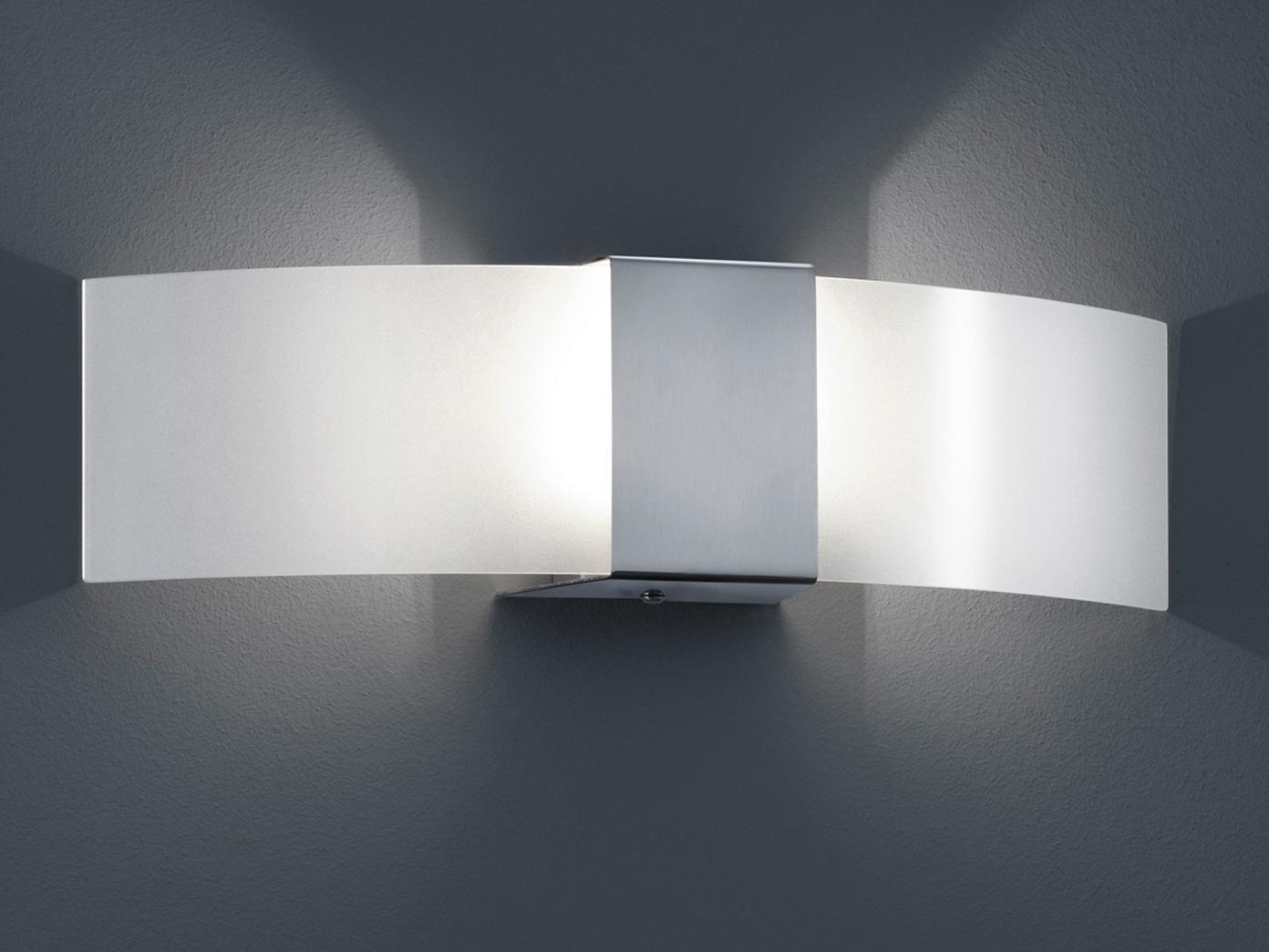 Moderne Wandbeleuchtung trio leuchten halogen wandleuchte in nickel matt 210710107 1x g9 28w