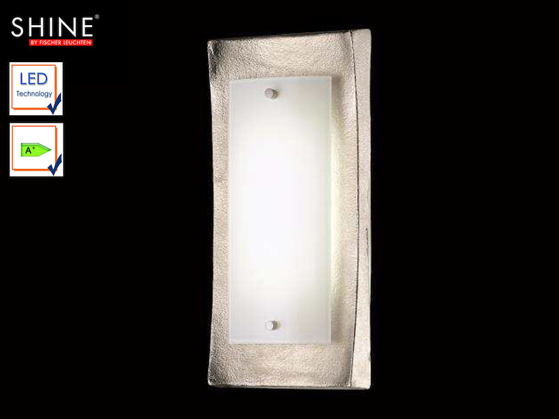 led wandlampe design nickel antik glas opal gl nzend fischer leuchten ebay. Black Bedroom Furniture Sets. Home Design Ideas