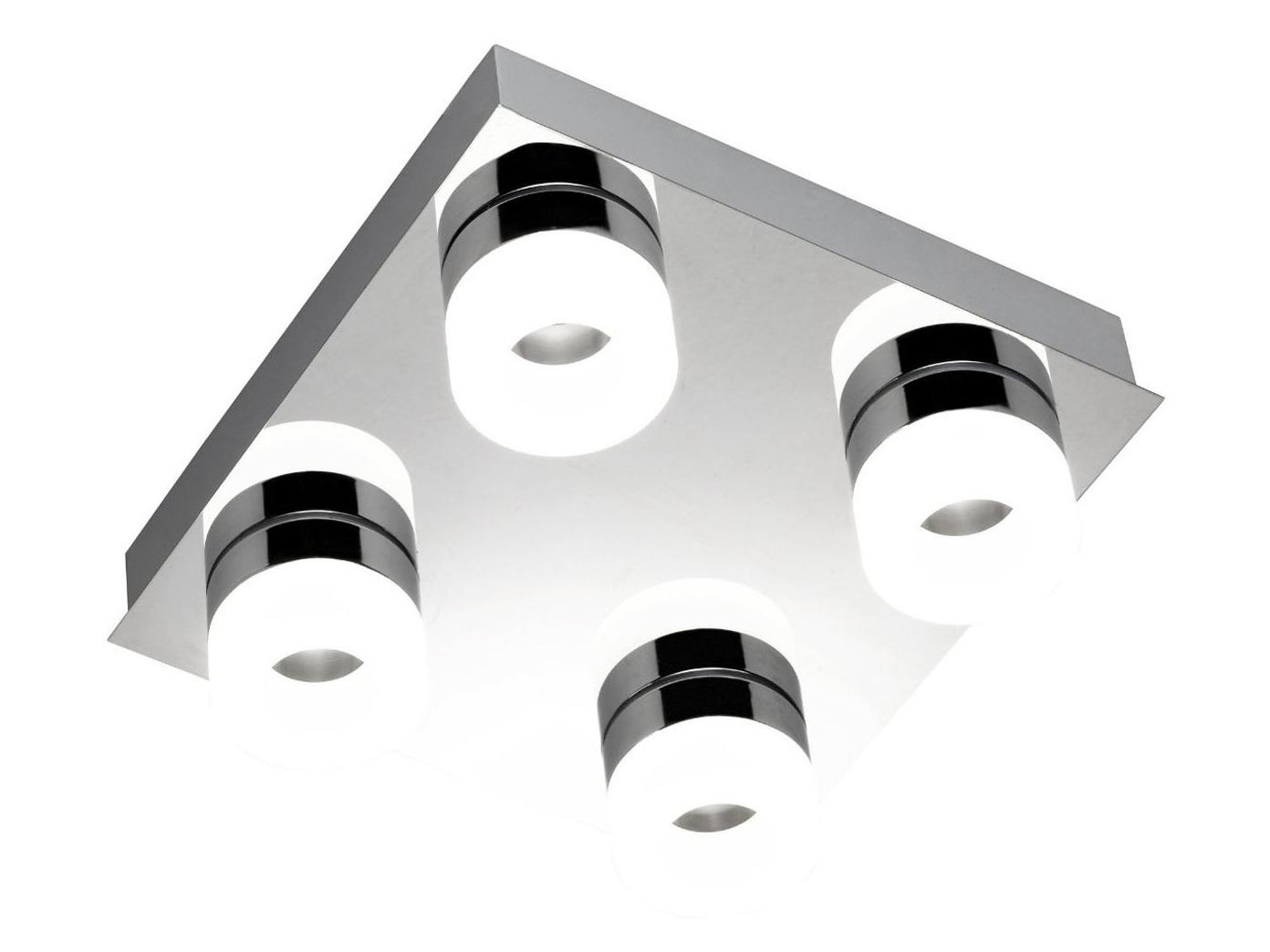 Plafoniere A Led Per Bagno : Plafoniera led per bagno cromo ip cm wofi luci