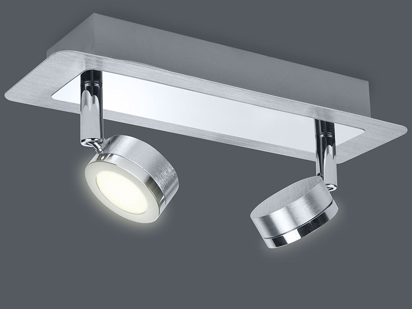 Deckenleuchte Bad LED Deckenspot Edelstahl Badbeleuchtung ...