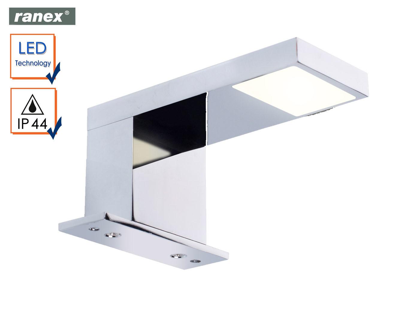 Details zu LED Wandleuchte fürs Badezimmer, Spiegelleuchte Chrom Wandlampe  Spiegel Bad