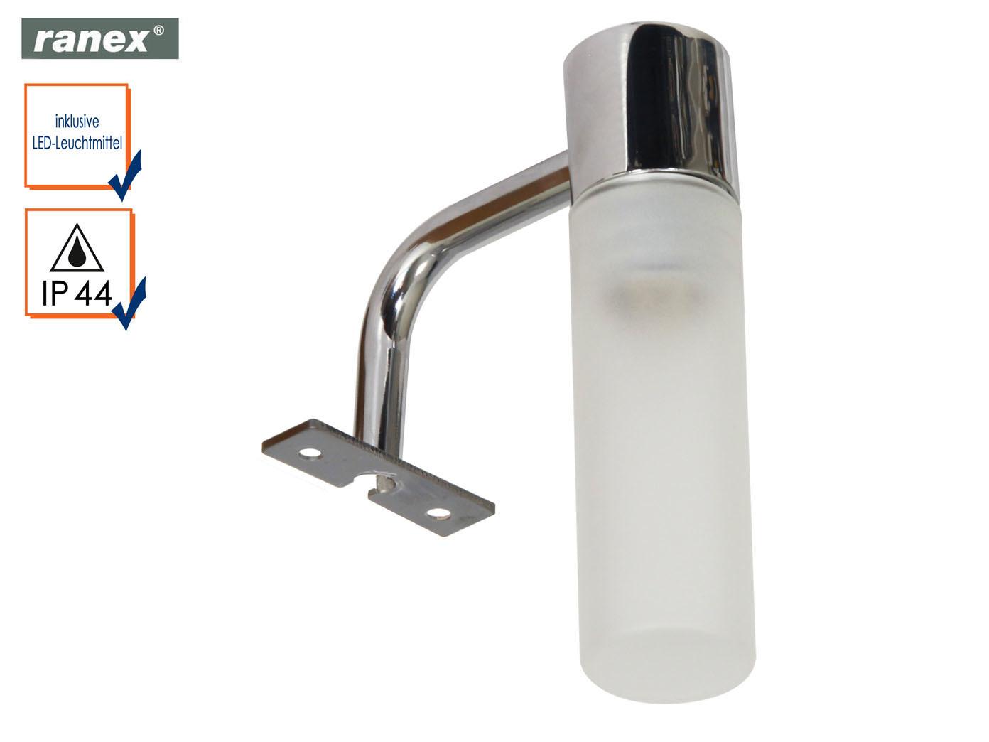 Badleuchte Spiegellampe IP44 mit Lampenschirm Glas, Spiegelleuchte ...