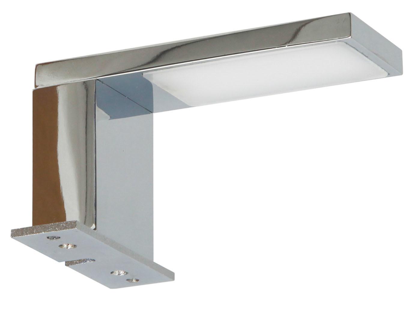 LED Spiegelleuchte fürs Badezimmer, Spiegellampe Chrom ...