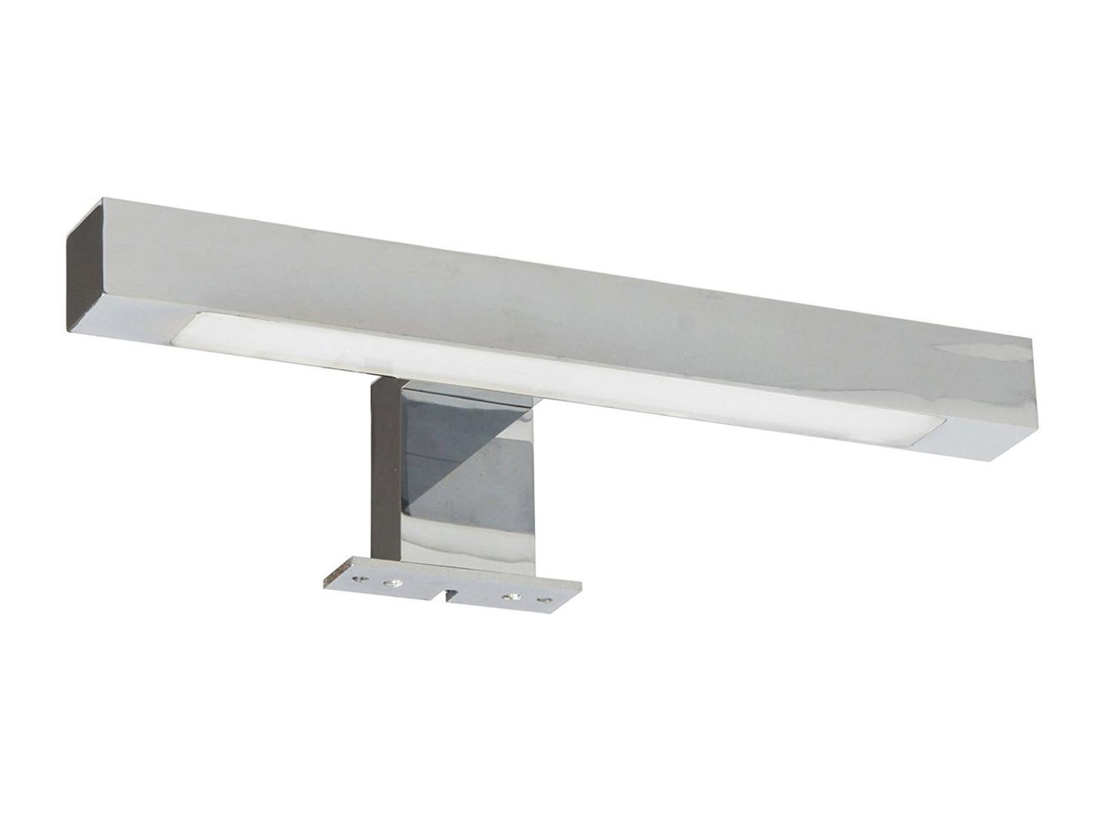 LED Spiegelleuchte 30cm fürs Badezimmer, Spiegellampe IP44 Chrom ...