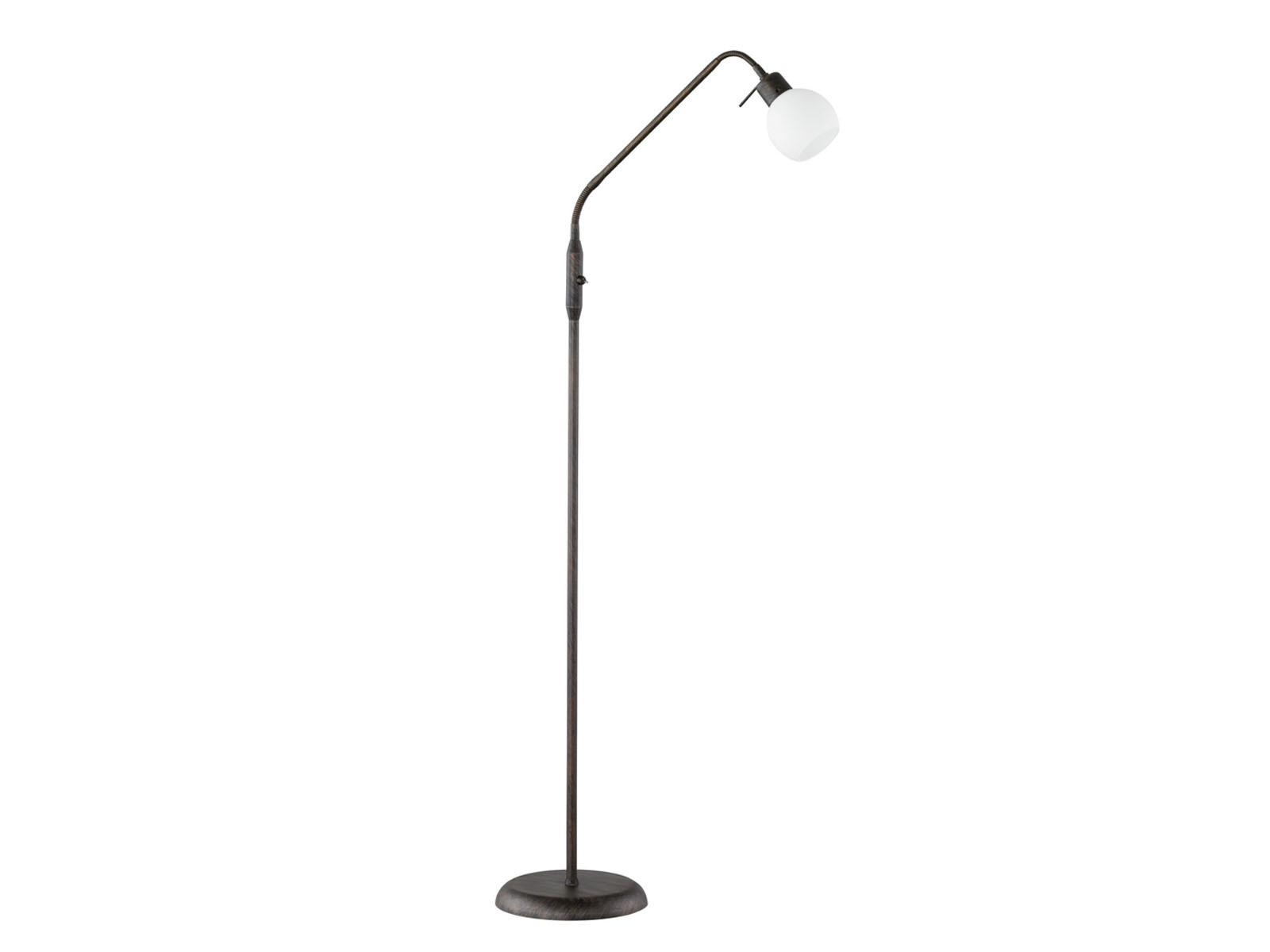 led stehlampe leselampe flexibel rost antik glas wei stehleuchte landhaus ebay. Black Bedroom Furniture Sets. Home Design Ideas