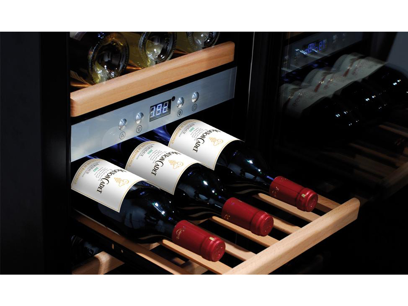 profi weink hlschrank 38 flaschen 2 zonen winecooler getr nke k hlschrank eur 825 99. Black Bedroom Furniture Sets. Home Design Ideas