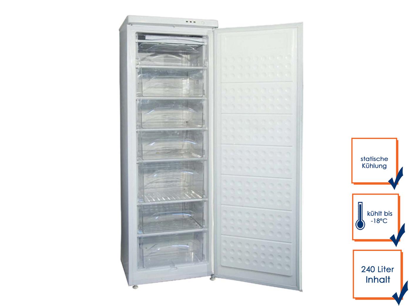 Gastro Gefrierschrank, 240 Liter, bis -18° C, Tiefkühlschrank Profi ...