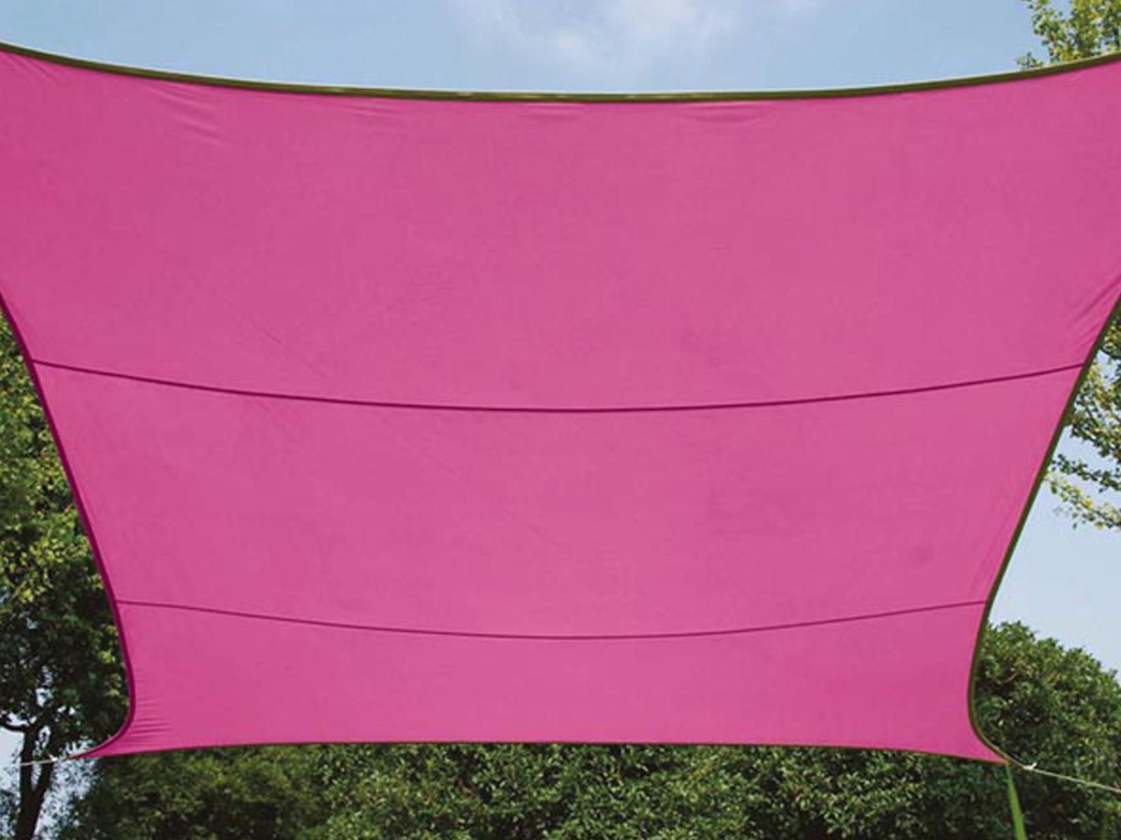 Sonnensegel Regenschutz Quadrat PEREL, Fuchsia, 500 x 500 cm, cm, 500 Wasserabweisend f35e6e