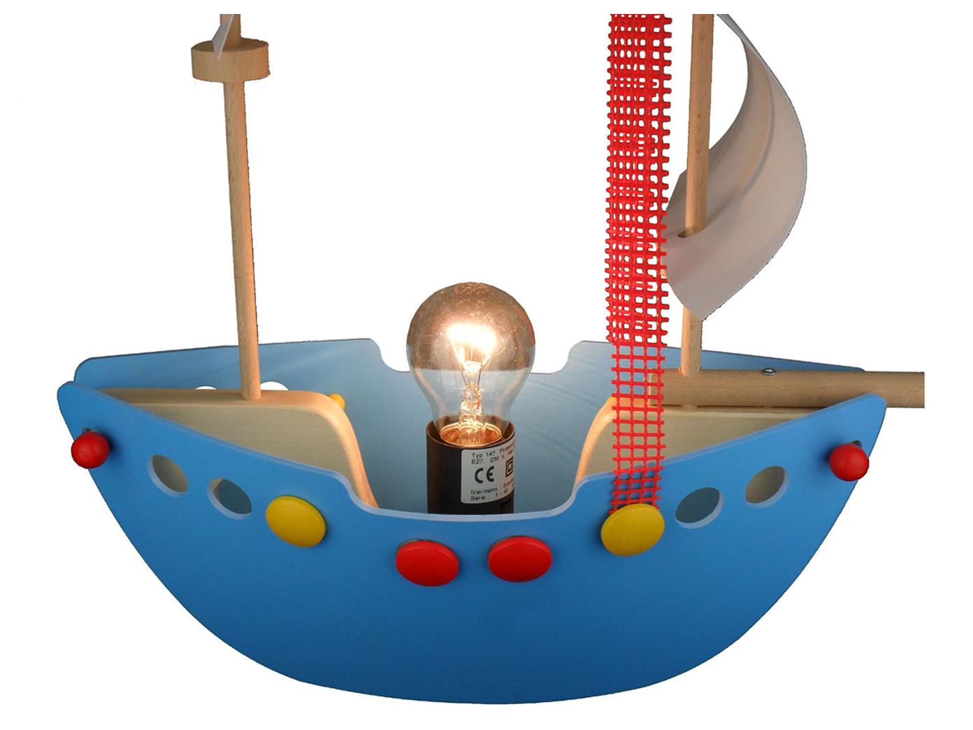 Kinder Deckenlampe Kinderzimmer PIRATENSCHIFF Hängelampe Lampen ...
