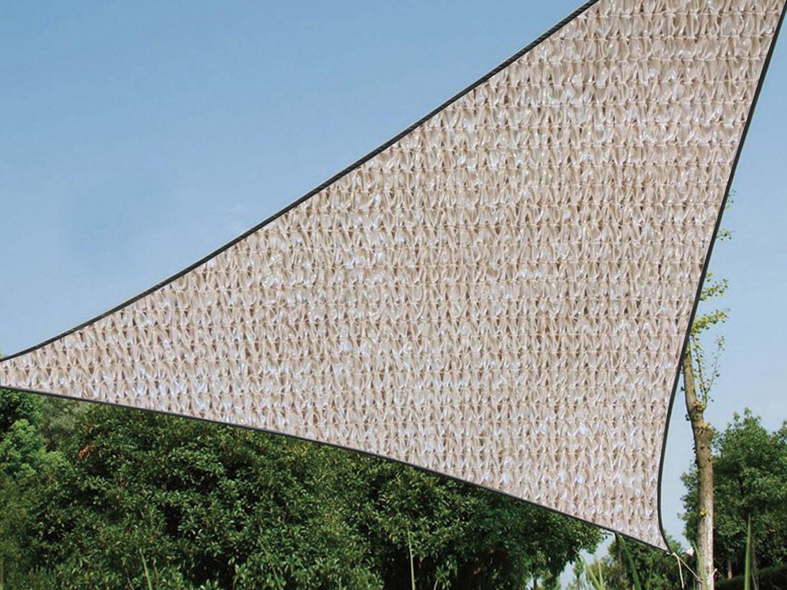 sonnenschutz dreieck beige für beschattung terrasse