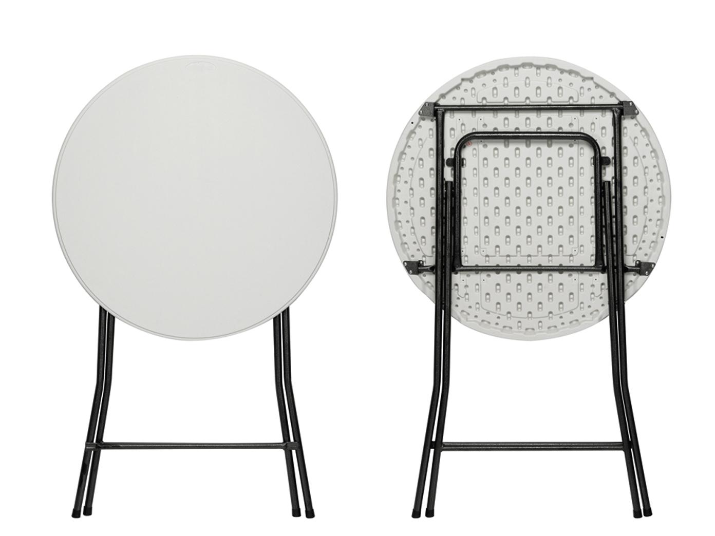 wei er stehtisch klappbar 80cm wetterfest beige husse gartentisch partytisch ebay. Black Bedroom Furniture Sets. Home Design Ideas