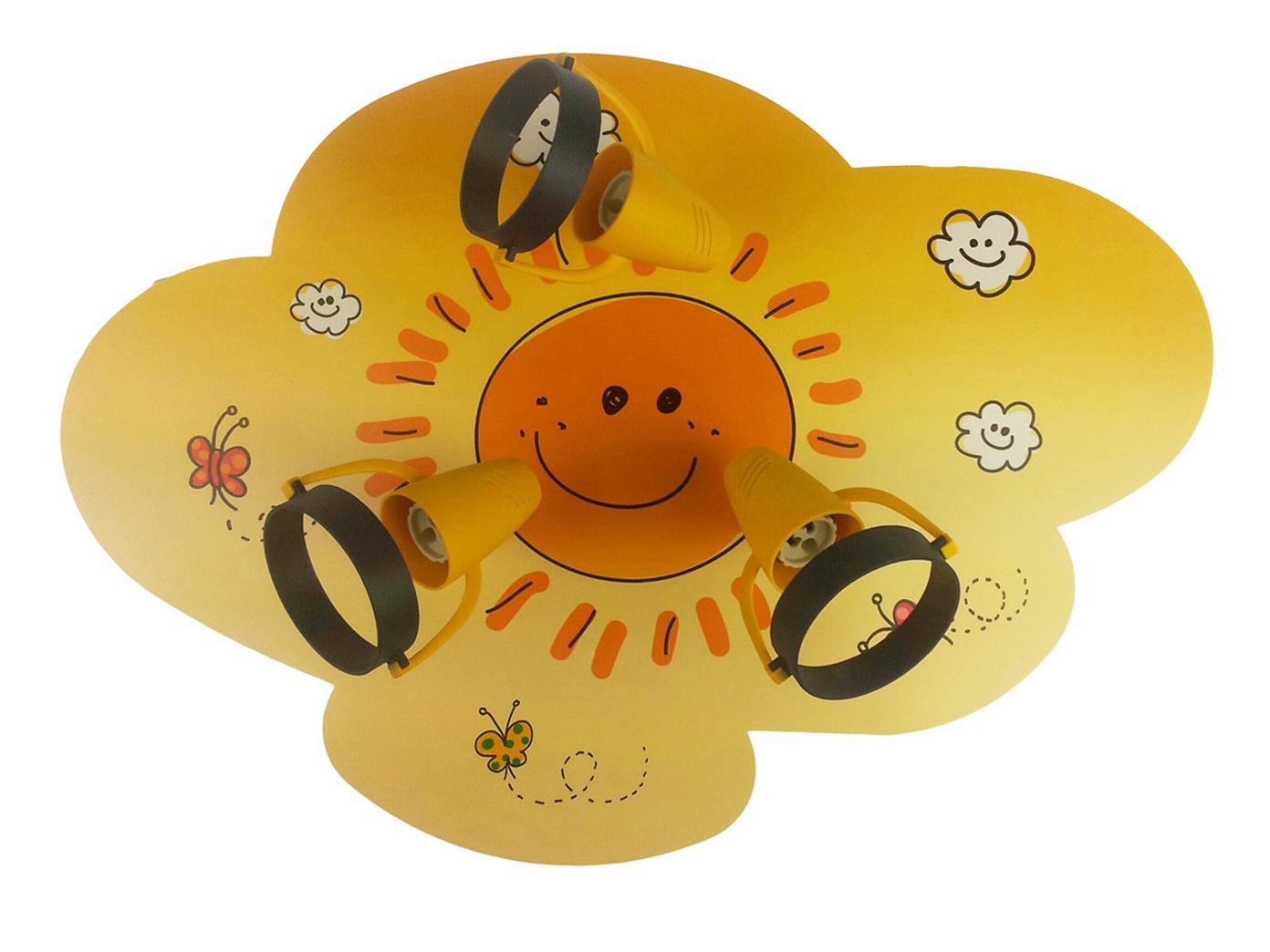 Entzückend Lampe 3 Flammig Foto Von Das Bild Wird Geladen Kinderlampe-3-flammig -deckenstrahler-sunny-spots-schwenkbar-lampe-