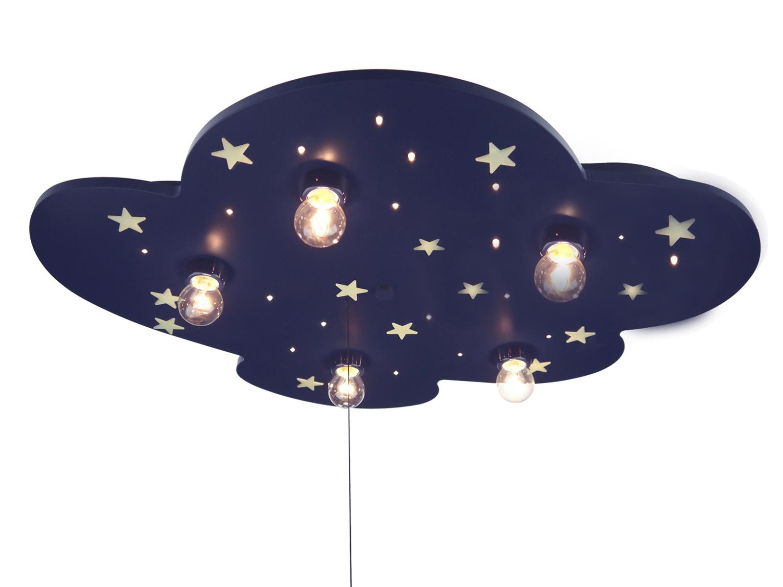 Kinderzimmerlampe Decke LED Schlummerlicht Sternenhimmel ...