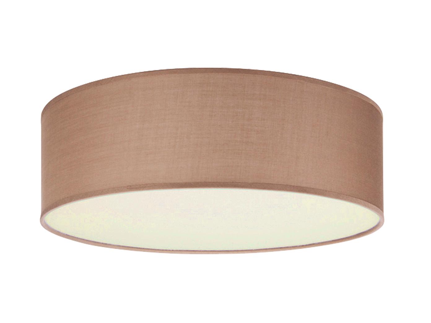 design deckenlampe rund 30 cm mit textilschirm braun extern dimmbar stoff ebay. Black Bedroom Furniture Sets. Home Design Ideas