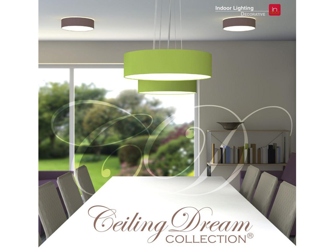 design deckenlampe rund 40 cm mit textilschirm wei extern dimmbar stoff ebay. Black Bedroom Furniture Sets. Home Design Ideas