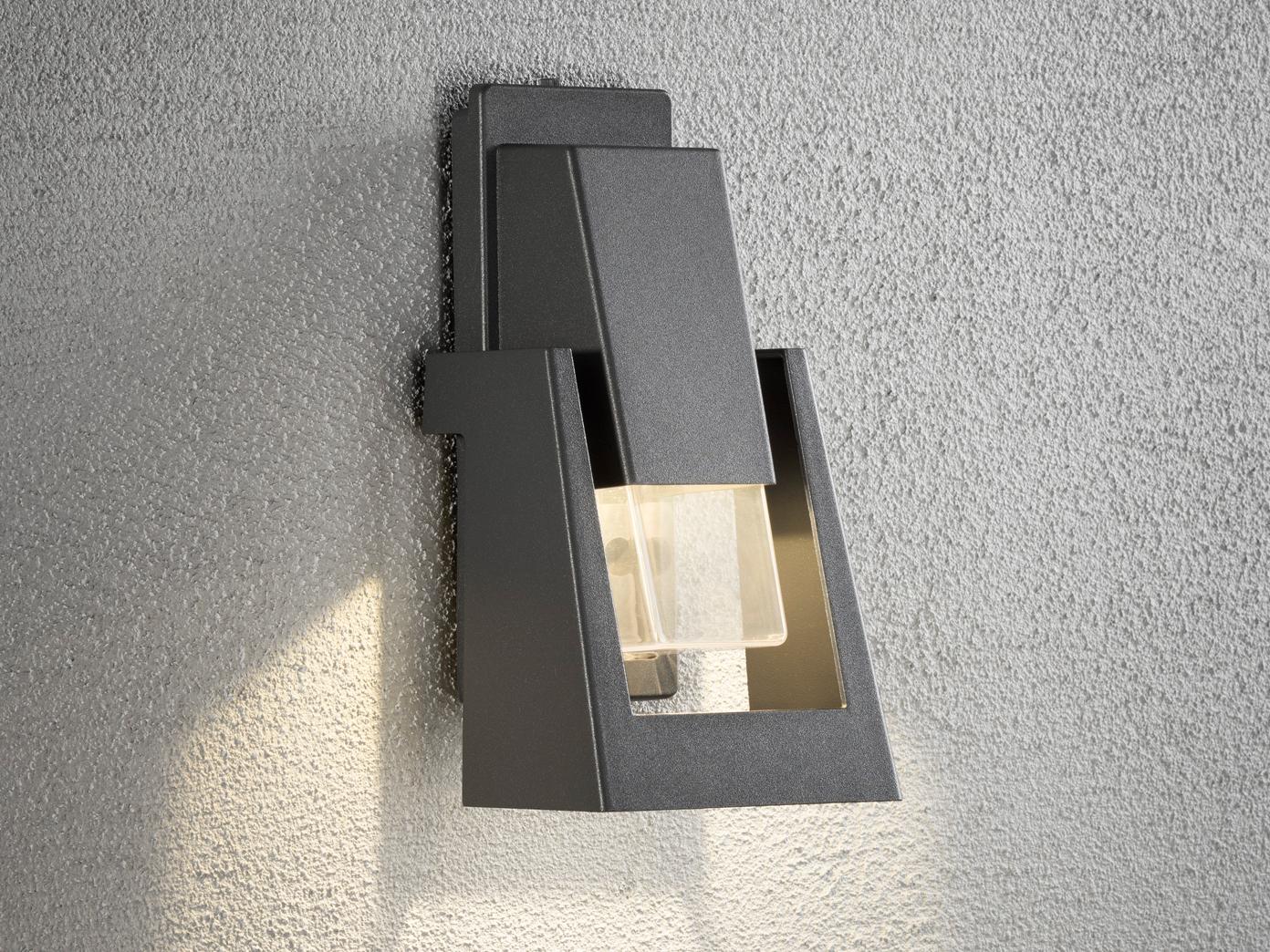 Dimmbare Außenwandleuchte POTENZA schwarz, 350Lm, austauschbares LED Modul   Mittel Preis    Genial    Trendy