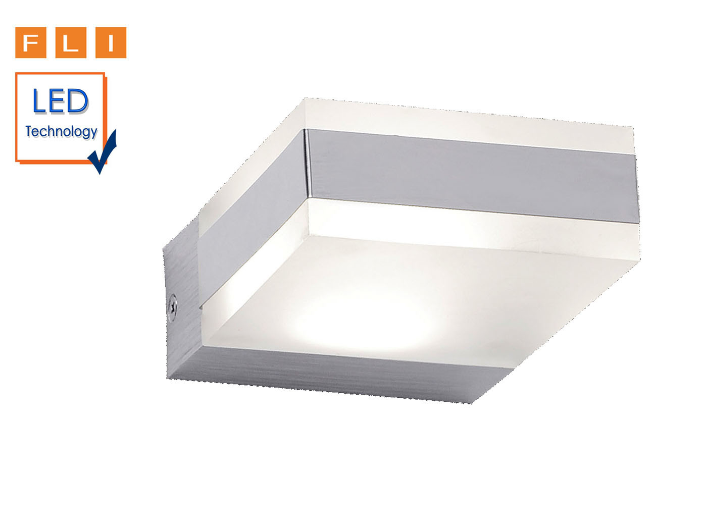 Eckige Led Design Wandlampe Fli Wohnzimmerlampe Flurlampe Indirekte