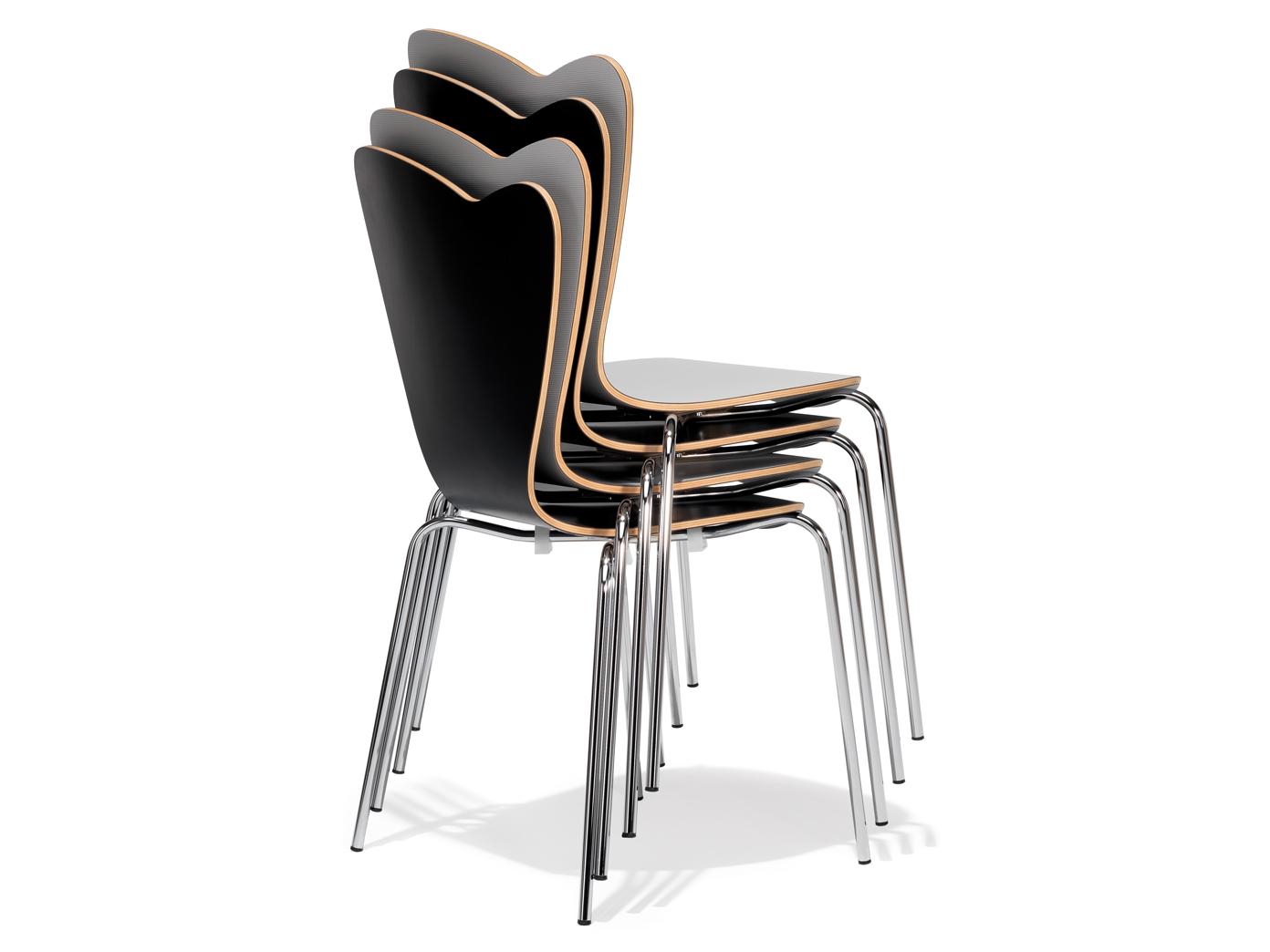 4er design stuhl heart rot stapelstuhl esszimmerstuhl for Design stuhl rot