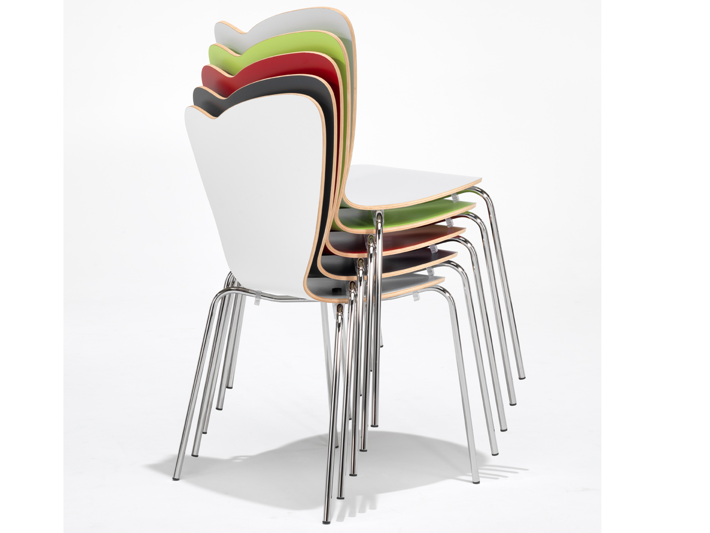 Design stuhl heart in grau stapelstuhl esszimmerstuhl for Design schalenstuhl