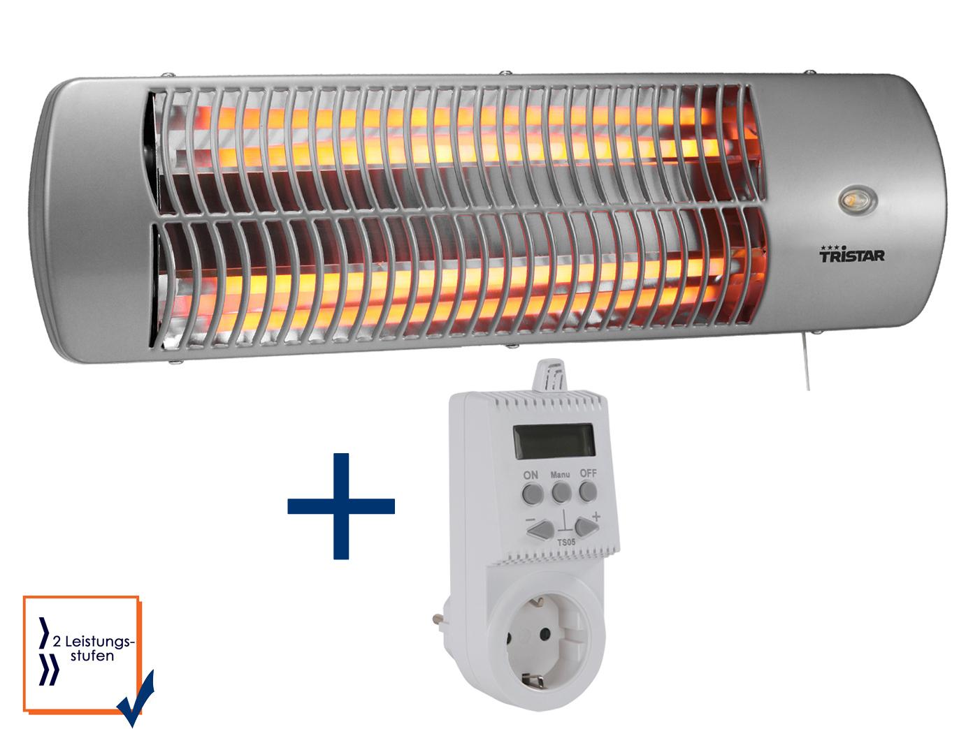 Halogen Heizstrahler + Stecker Thermostat 600-1200W Badezimmer ...