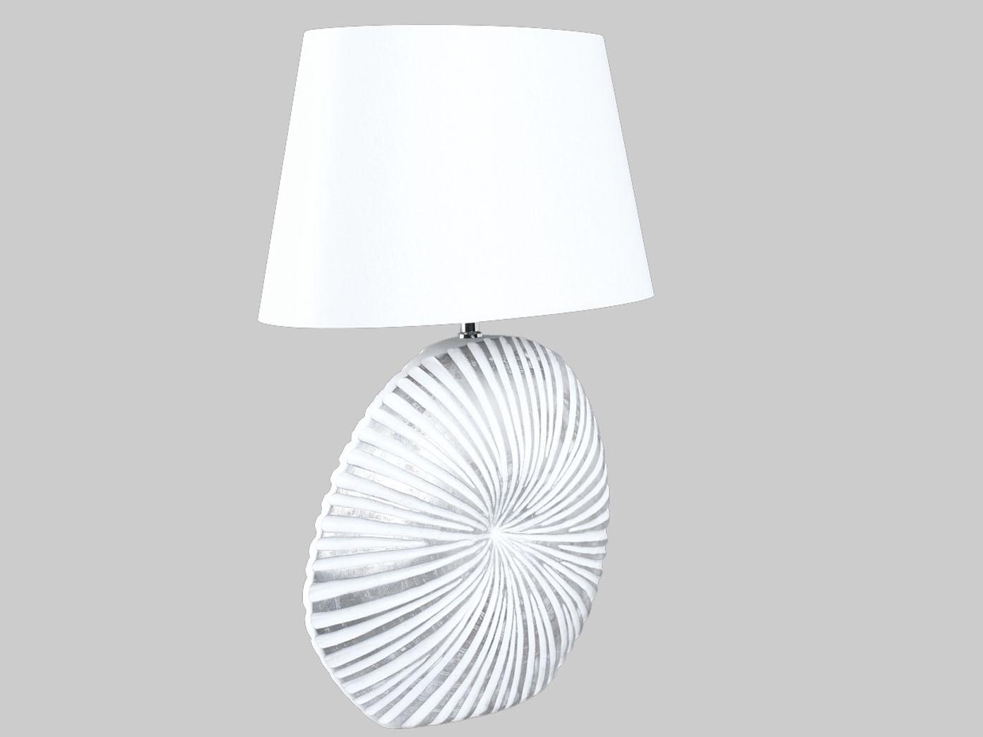 Tischleuchte-SHINE-Holzfuss-Stoffschirm-weiss-60cm-Nachttischlampe-Wohnraum