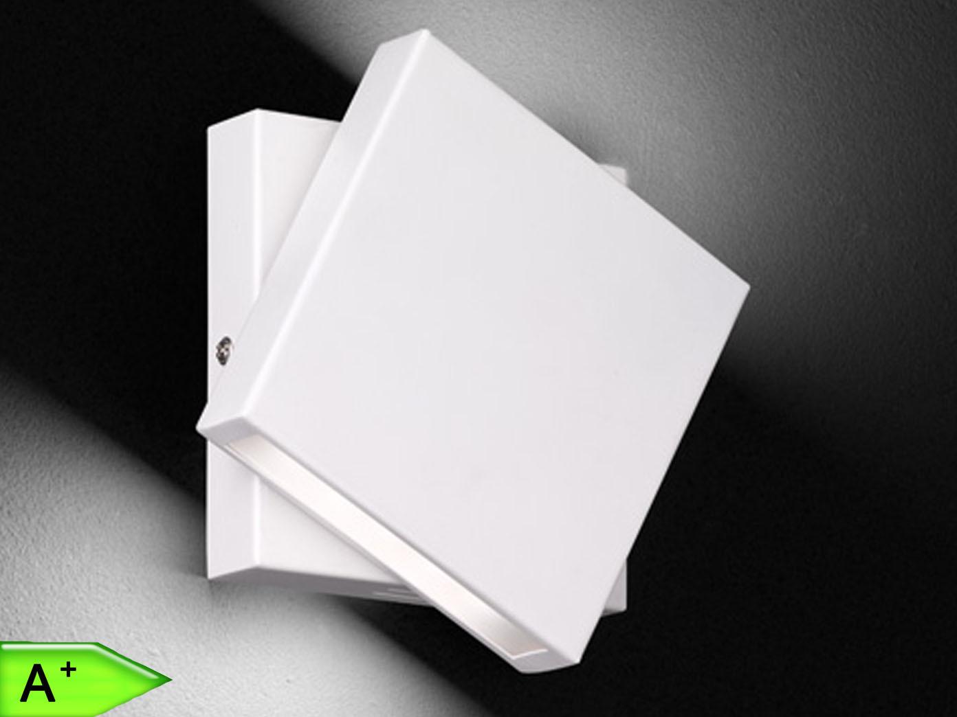 Weiße LED-Wandleuchte 10W, drehbar, 14x14 cm, Schalter, Trio-Leuchten | Deutschland Outlet