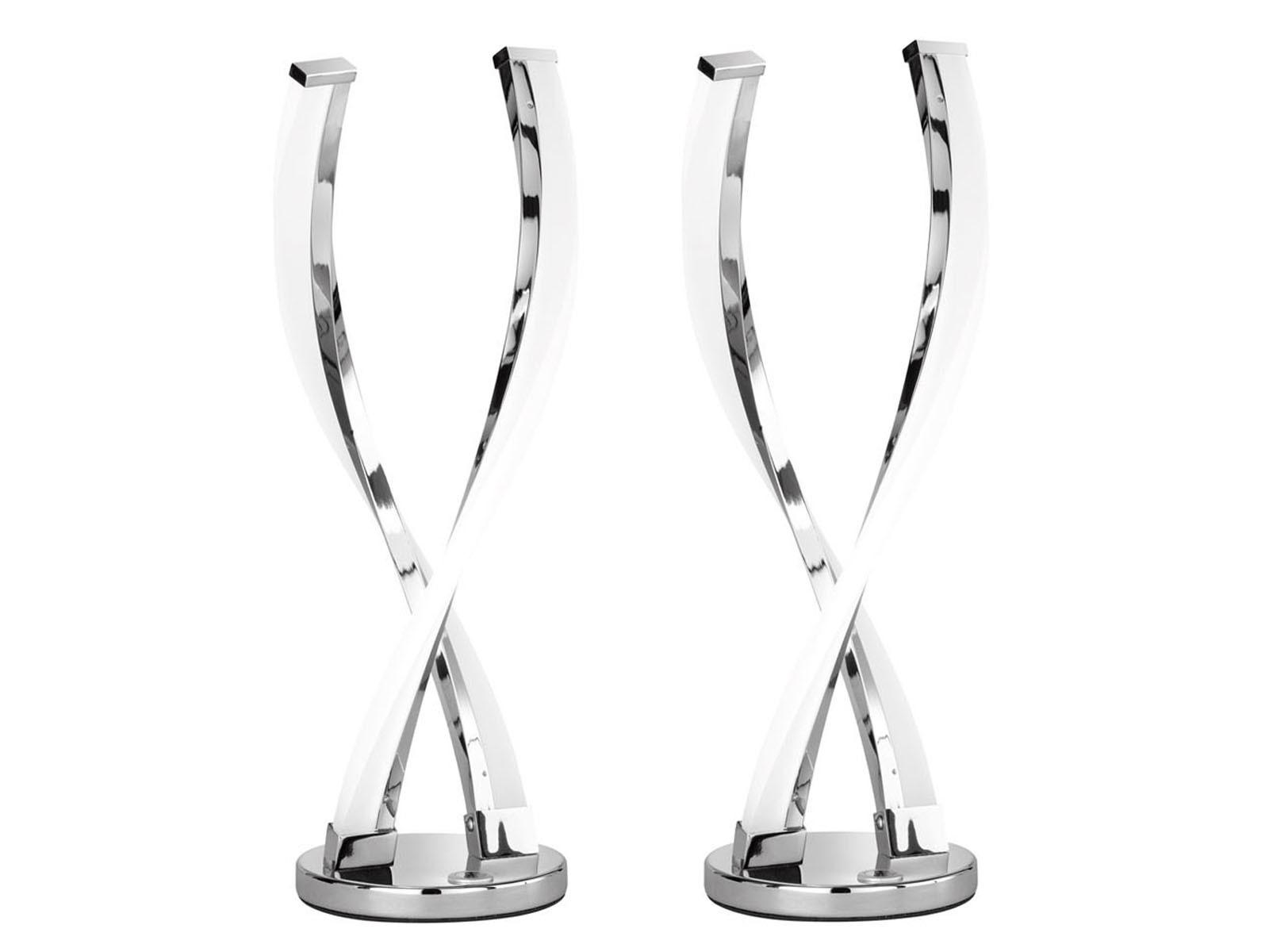 2er Set LED Tischleuchte Tischleuchte Tischleuchte IDANA, Chrom, Touchdimmer, Tischlampe LED Tischlampe  | Deutschland Frankfurt  9fcda9