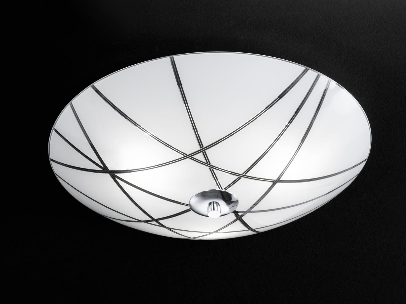 Deckenleuchte / Deckenschale Mats, rund, Ø 40 cm, chrom, Honsel-Leuchten