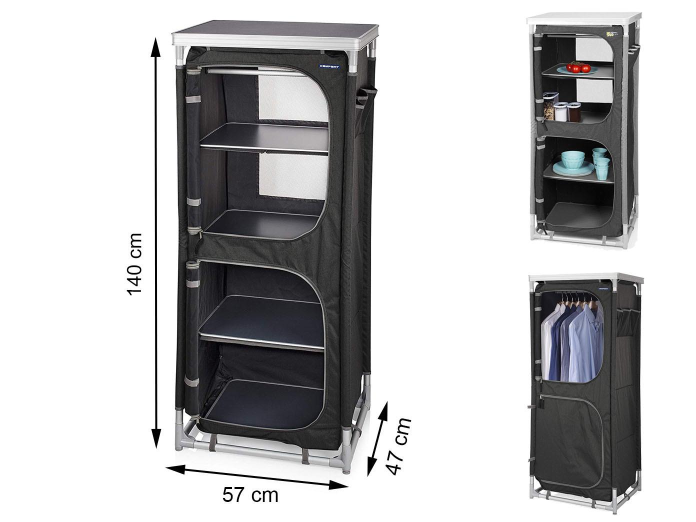 Outdoor Kleiderschrank, faltbar/tragbar Alu-Rahmen, 4 verstellbare ...