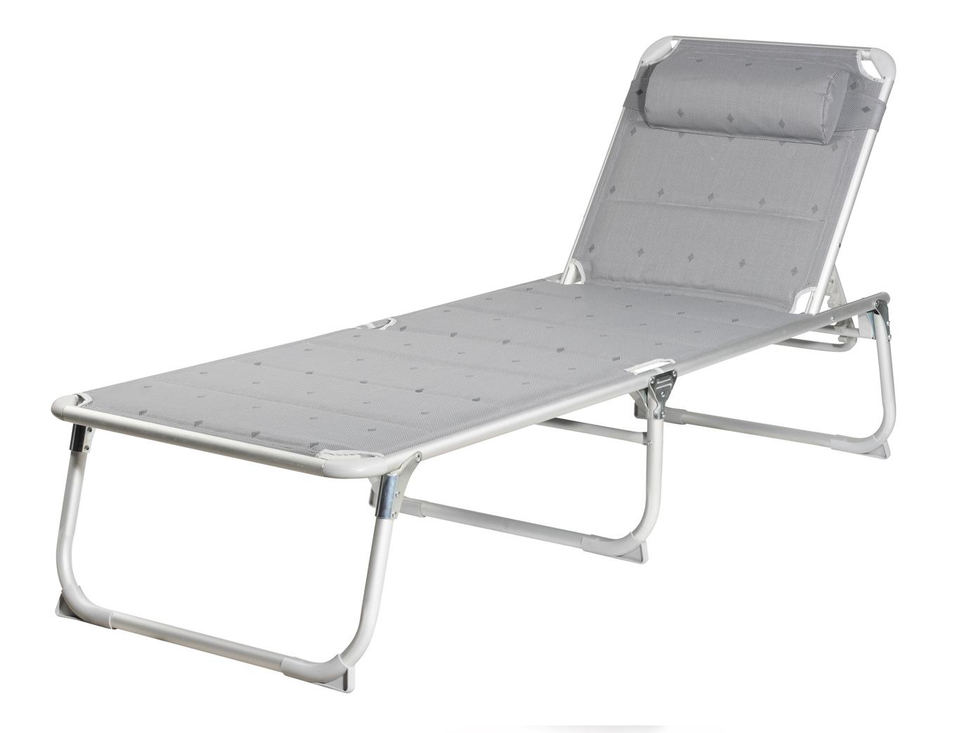 Gartenliege klappbar  Klappbare graue Sonnenliege bis 120kg faltbar Strandliege Relaxliege ...