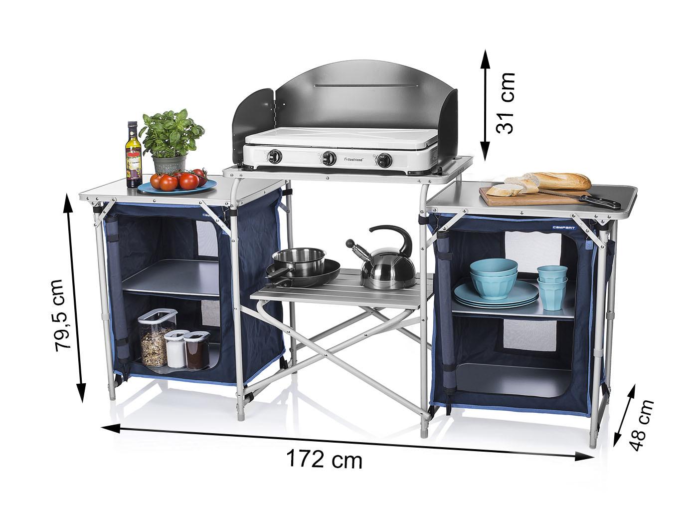 Outdoorküche Klappbar Reparieren : Robuste große campingkÜche faltbar mobile reiseküche vorzelt küche